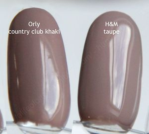 vernis HetM taupe Orly country club kaki swatch 2 copie