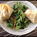 Boureks de légumes croquants