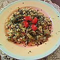 Taboulé aux tomates et olives grand classique de