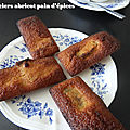 Financiers abricot pain d 'épices