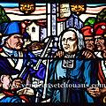 Le vitrail de l'abbé brenugat à bazoges-en-paillers (vendée)