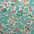 Tissu liberty betsy turquoise
