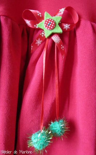 Broche Noel rouge et verte