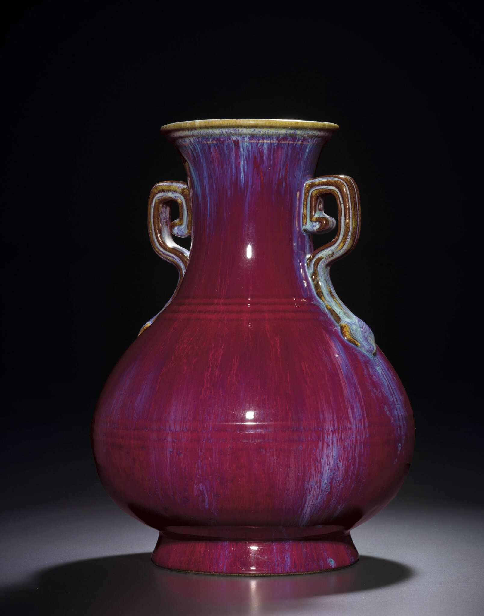 An Extremely Rare Flambe-Glazed Vase, Hu, Yongzheng impressed four-character seal mark and of the period (1723-1735)