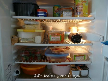 15 - Inside your fridge