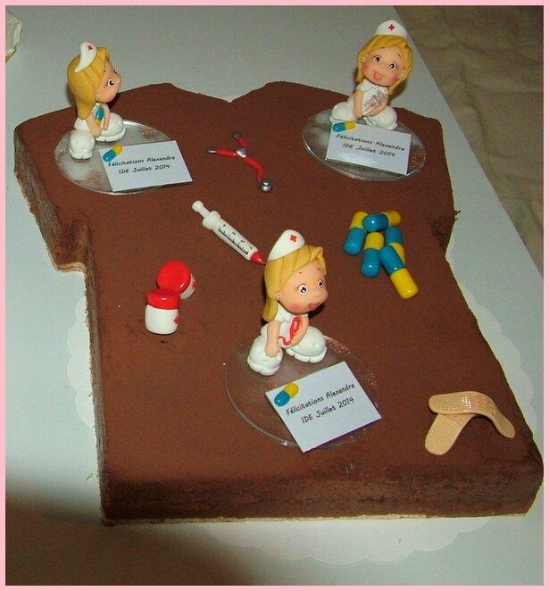 infirmières en porcelaine froide, décoration de gâteau