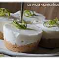 Mini-cheesecakes au citron vert ( thermomix ou pas )
