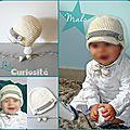 Bonnet Bébé Fait-main - Crochet - Casquette Gavroche 12 mois - Modèle Original - Baptême Malo