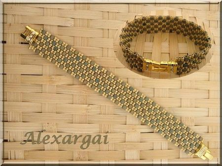 bracelet Checkered peyote 2