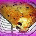 Cake au citron, noix de coco et cranberries....