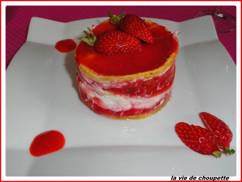 gâteau vanillé, fraises, rhubarbe-1997