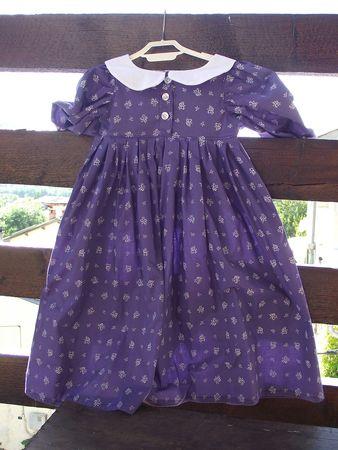 Robe Meg violet & blanc 3