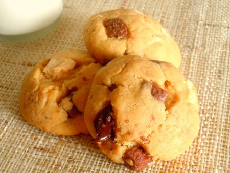 cookies beurre cacahuetes trois chocolats