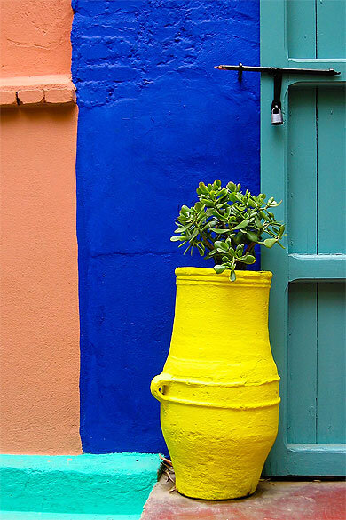 photo 3 les harmonies de couleurs Majorelle