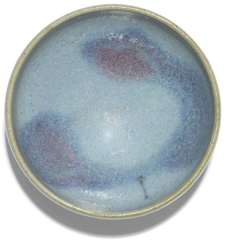 A fine purple-splashed 'Jun' 'bubble' bowl, Northern Song dynasty