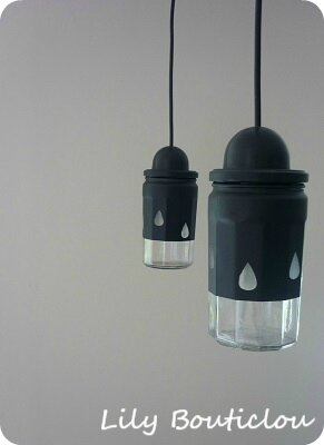 DIY suspension luminaire pot confiture lilybouticlou