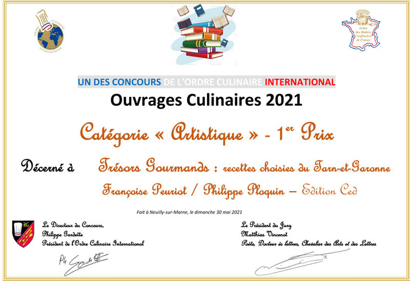 Diplome_OUVRAGES_CULINAIRES_ARTISTIQUE