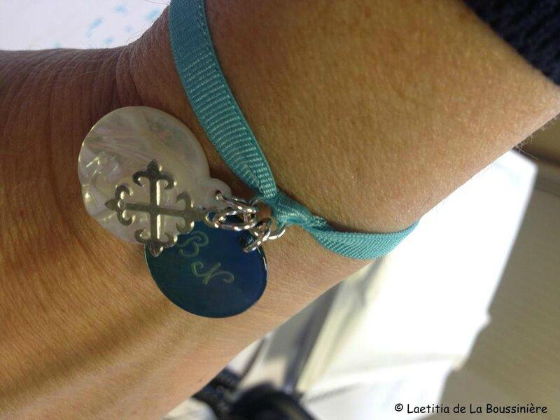 Le bracelet sur ruban élastique de Nathalie2