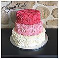 Pièce montée roses cake