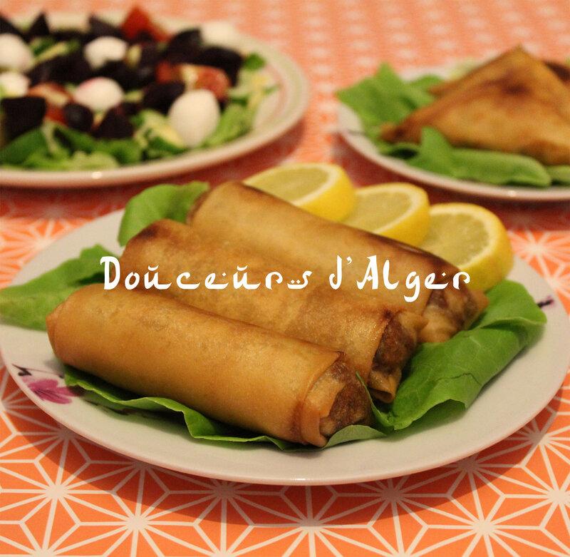 bourek à la viande hachée et aux olives