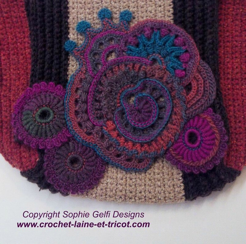 freeform crochet handbag sac 2