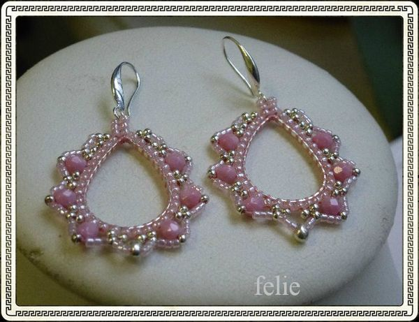 boucle d'oreille rose marvina