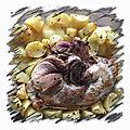 Rouelle de porc cuite au four et ses pommes de terre