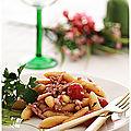 Gnocchis aux lardons et pignons de pins....