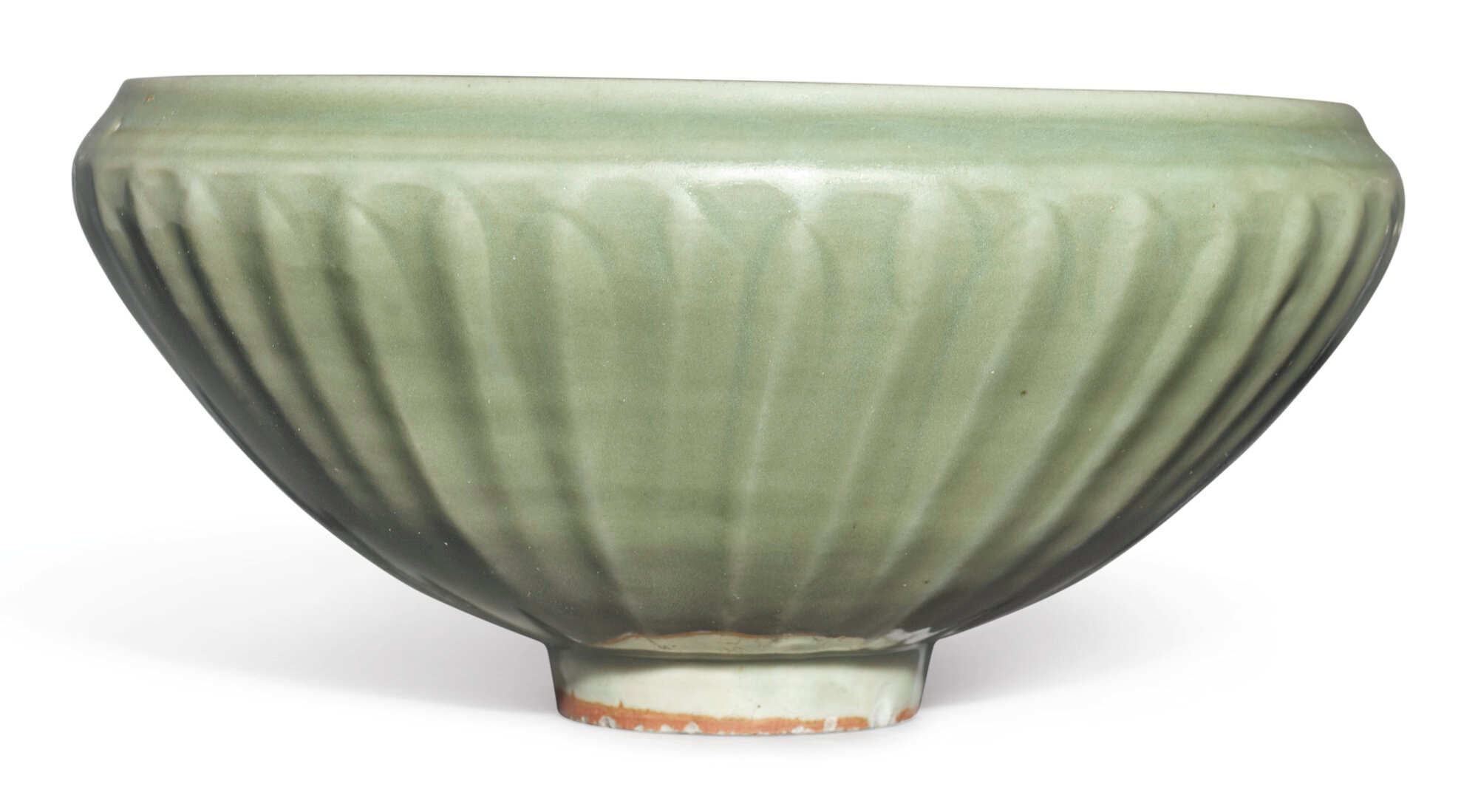 A large 'Longquan' celadon-glazed 'lotus' bowl, late Yuan - early Ming dynasty