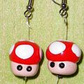 Boucles oreilles Super Mario