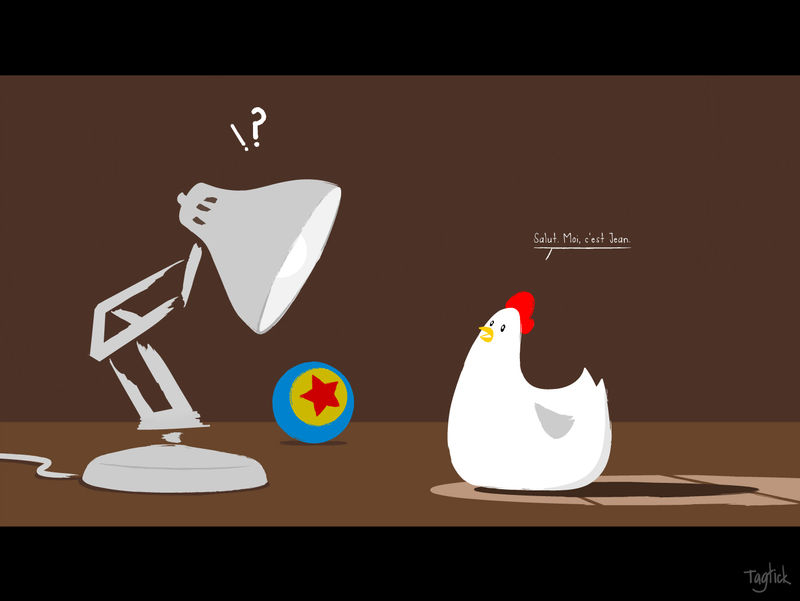 Lampe Poule jean poule 2 is comin' too - tagtick© the wouack factory©