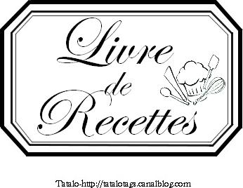 tatalo livre de recettes avec logo