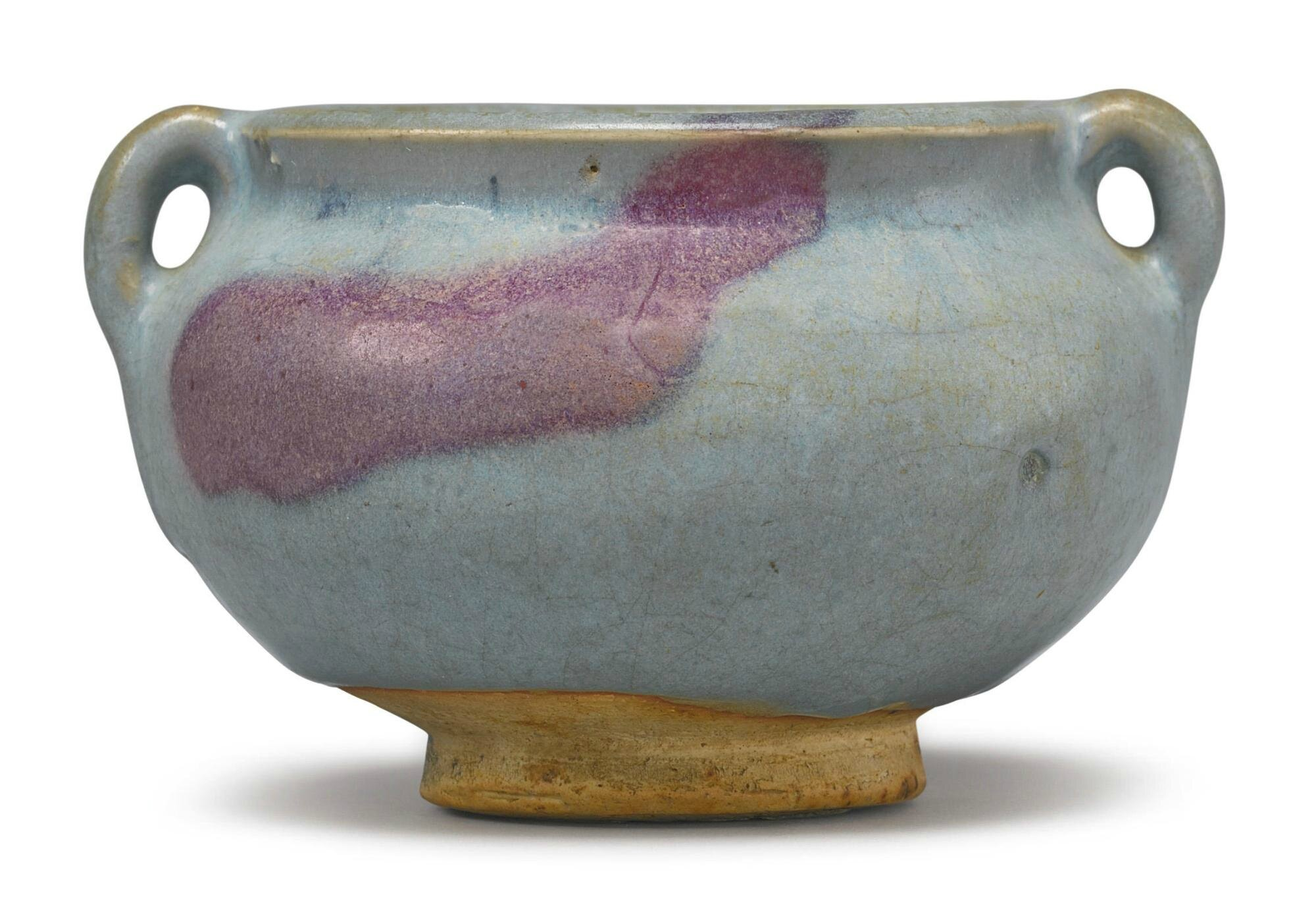 A purple-splashed 'Jun' jar, Jin-Yuan Dynasty