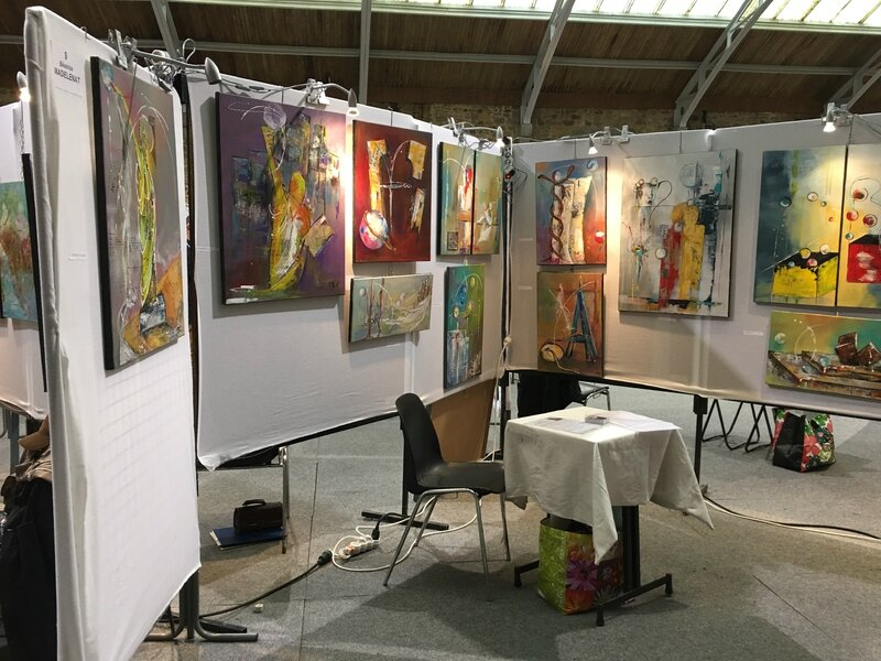 Art'Avranches exposition Avranches haras art contemporain septembre 2016 stand