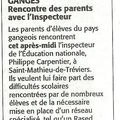 Rased - rdv avec l'inspecteur de l'education nationale