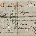 Les chèques de place à place après le 19 février 1874