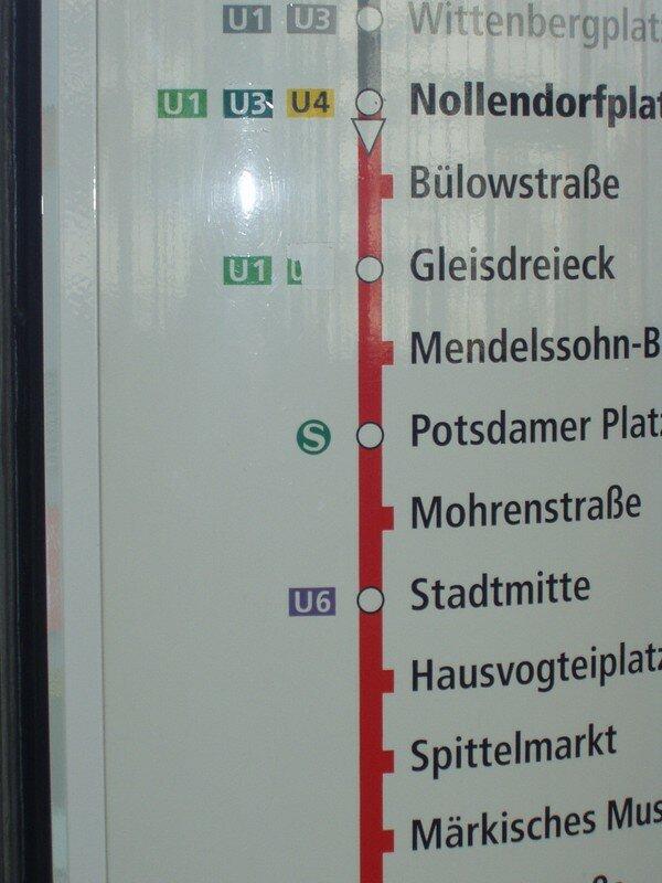 Signalétique U-Bahn Ligne 2