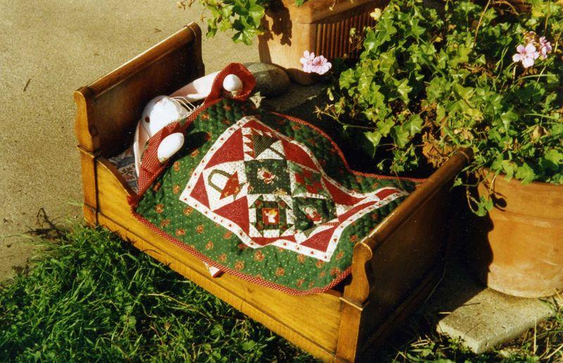 couvre lit de poupée de Noël