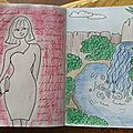 Un peu d'art journal : mon drawriotdaily d'avril