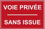 voie privée sans issue