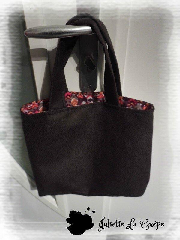 sac à main marron violet orange