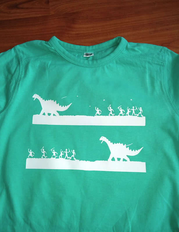 teeshirt dino VS humains - copie
