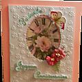 Deux cartes d'anniversaire sur fond de pâquerettes