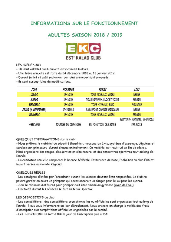 INFORMATIONS ADULTES 18-19
