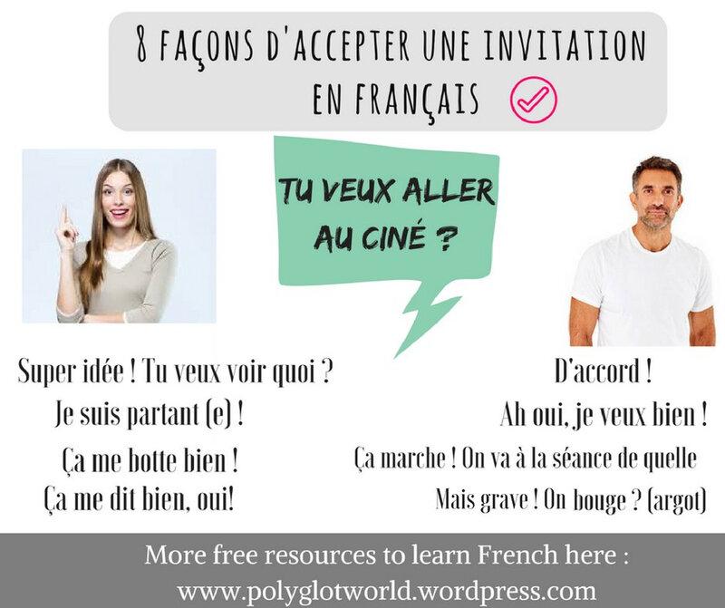 accepter une invitation en français