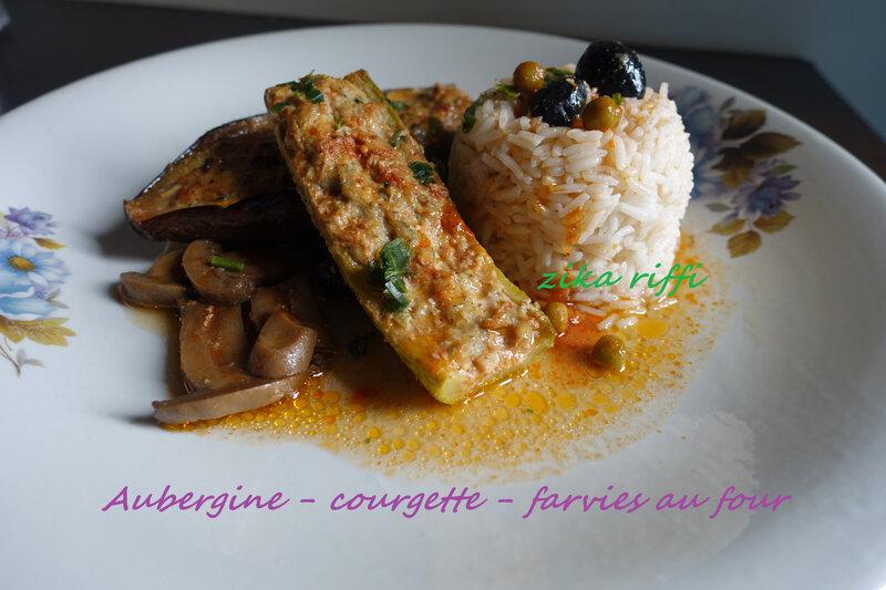 aubergine courgette farcies au four5