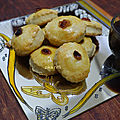 Biscuits fêtes fin d'année, amandes et raisins secs