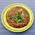 galette fromagère de chou fleur ail & fines herbes