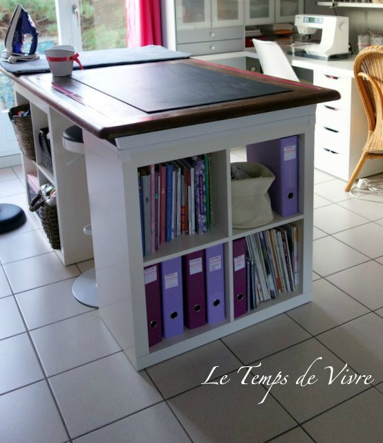 am nager son atelier 1 la table de d coupe tuto inside le temps de vivre. Black Bedroom Furniture Sets. Home Design Ideas