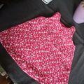 Robe trapèze fushia - 1 an